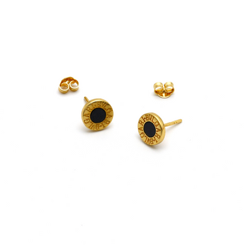 Real Gold BV Earring Set E1386 - 18K Gold Jewelry