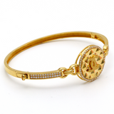 Real Gold CH Bangle (SIZE 16) BA1154 - 18K Gold Jewelry