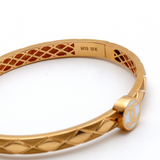 Real Gold CH Rose Gold Bangle (SIZE 19) BA1152 - 18K Gold Jewelry