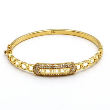 Real Gold GZBL Bangle (SIZE 17) BA1151 - 18K Gold Jewelry