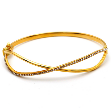 Real Gold Infinity Beads Bangle 2610 (SIZE 16.5) BA1222