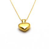 Real Gold 3D Heart Necklace CWP 1630 - 18K Gold Jewelry