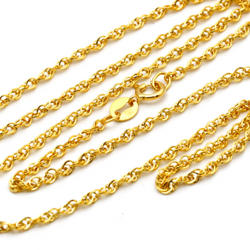 Real Gold Chain 2021 (45 C.M) CH1067 - 18K Gold Jewelry
