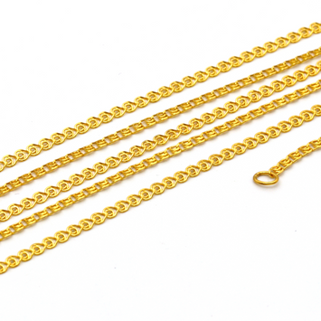 Real Gold Flat Chain 2021 (50 C.M) CH1068 - 18K Gold Jewelry