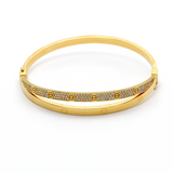 Real Gold CR Bangle 2021 (SIZE 17) BA1158 - 18K Gold Jewelry