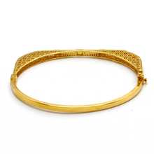 Real Gold Cr Square Bangle 2021 (SIZE 17) BA1161 - 18K Gold Jewelry