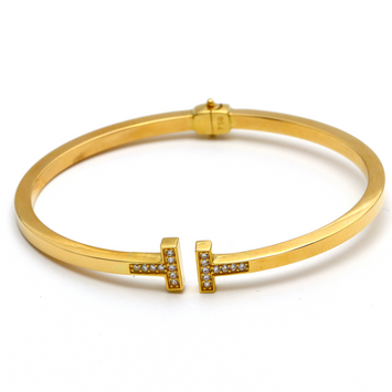 Real Gold TF Bangle 2021 (SIZE 16) BA1162 - 18K Gold Jewelry