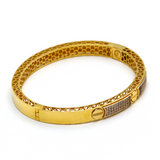 Real Gold 3D CR Bottom Bangle 2021 (SIZE 16) BA1163 - 18K Gold Jewelry