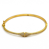 Real Gold BV Bangle 2021 (SIZE 17) BA1165 - 18K Gold Jewelry