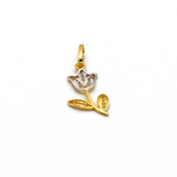 Real Gold 1 Side 2 Color Rose 4240 Pendant P 1646 - 18K Gold Jewelry