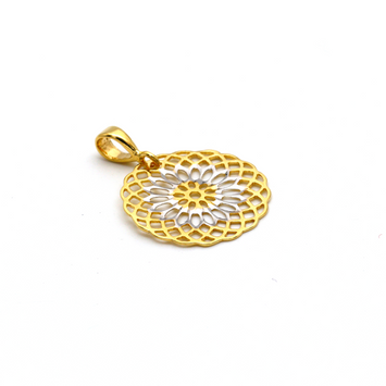 Real Gold 2 Color Expo 5967 Pendant P 1649 - 18K Gold Jewelry