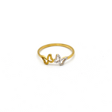 Real Gold 2 Color Butterfly 06454 Ring (SIZE 6) R1377 - 18K Gold Jewelry
