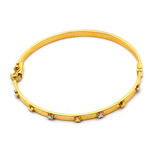 Real Gold Star Bangle 1228 (SIZE 18.5) BA1228 - 18K Gold Jewelry