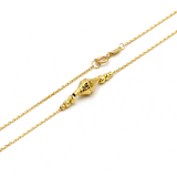 Real Gold Ball Adjustable Size 4022 Necklace N1135 - 18K Gold Jewelry