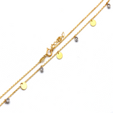 Real Gold 2 Color Rosary Dangler Round Adjustable Size Necklace 5915 N1241