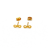 Real Gold Infinity Earring Set E1399 - 18K Gold Jewelry