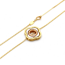 Real Gold 3 Color 3 VC Detachable and Movable Two sided Pendant Necklace 2379 N1249 - 18K Gold Jewelry