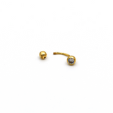 Real Gold Belly Button Navel Piercing BP1003 - 18K Gold Jewelry
