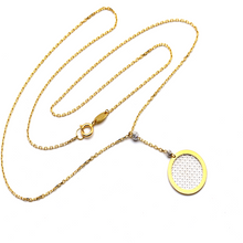 Real Gold 2 Color Round Rosary Necklace 1872 N1259 - 18K Gold Jewelry