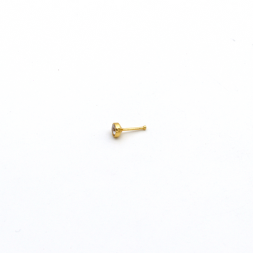 Real Gold Straight Nose Stud Piercing NP1001 - 18K Gold Jewelry