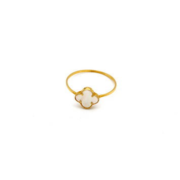 Real Gold VC Pearl Ring (SIZE 6.5) R1379 - 18K Gold Jewelry