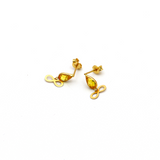 Real Gold Infinity Yellow Dangler Earring Set E1436 - 18K Gold Jewelry