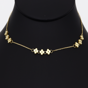Real Gold VC Choker Adjustable Size Necklace 5923/111 N1274
