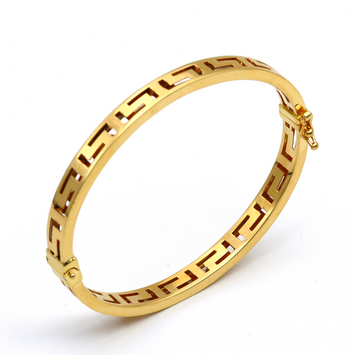 Real Gold Maze Hoop Bangle (SIZE 15) BA1170