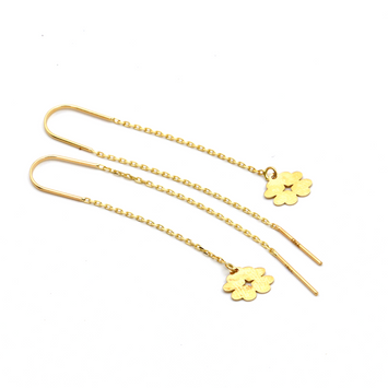 Real Gold 4 Heart Hanging Earring Set E1456