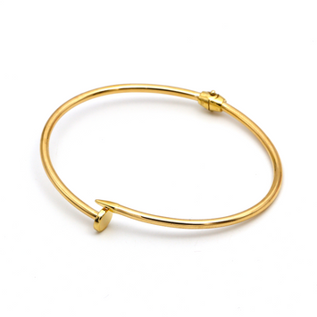 Real Gold CR Nail Bangle (SIZE 17) BA1173