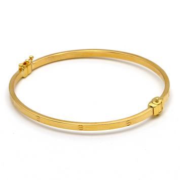 Real Gold Thin CR Bangle (SIZE 18) BA1171
