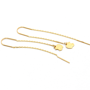 Real Gold Apple Hanging Earring Set E1470