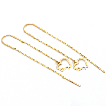 Real Gold Infinity Heart Hanging Earring Set E1468