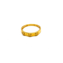 Real Gold CR Stone Ring 2021 (SIZE 7.5) R1387 - 18K Gold Jewelry