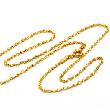 Real Gold GZ40 Choker Chain Necklace 2021 (40 C.M) CH1070