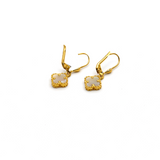Real Gold VC Pearl Hanging Earring Set E1472