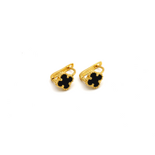 Real Gold VC Black Press Earring Set E1480 - 18K Gold Jewelry