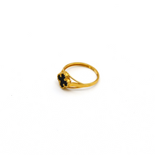 Real Gold VC Black Ring (SIZE 7.5) R1409 - 18K Gold Jewelry
