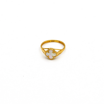Real Gold VC Pearl Ring (SIZE 7.5) R1386