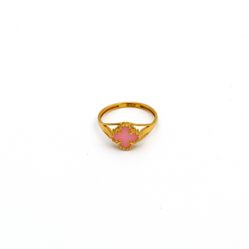 Real Gold VC Pink Ring (SIZE 7.5) R1387