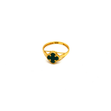 Real Gold VC Green Ring (SIZE 7.5) R1388