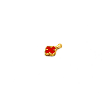 Real Gold Small VC Red Pendant K1003
