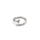 Real Gold CR Plain Nail White Gold Ring A (SIZE 8) R1392