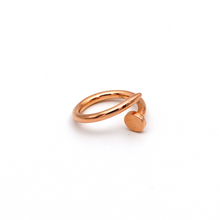 Real Gold CR Plain Nail Rose Gold Ring (SIZE 7) R1395 - 18K Gold Jewelry