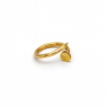 Real Gold CR Stone Twisted Nail Ring (SIZE 7) R1400