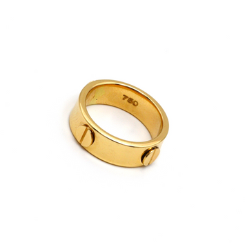 Real Gold CR Debossed Ring (SIZE 7.5) R1424