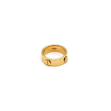 Real Gold CR Debossed Ring (SIZE 5.5) R1421