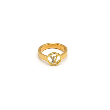 Real Gold LV Stone Ring (SIZE 8) R1428