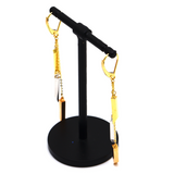 Real Gold 3 Color hanging Clip Earring Set 9911 E1670
