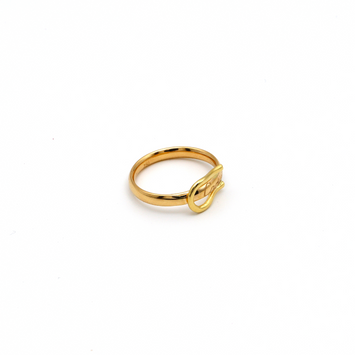 Real Gold CR Curved Belt Ring (SIZE 8) R1432
